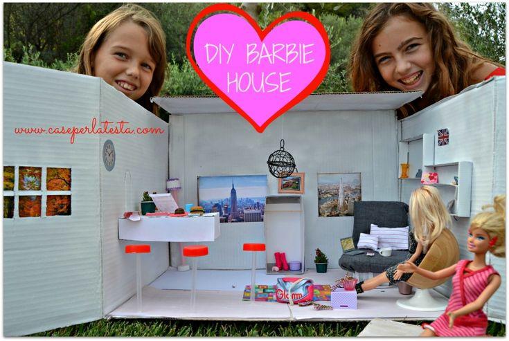Casa di Barbie fai da te a costo zero * DIY Barbie house at no cost #diy #dollhouse #barbie