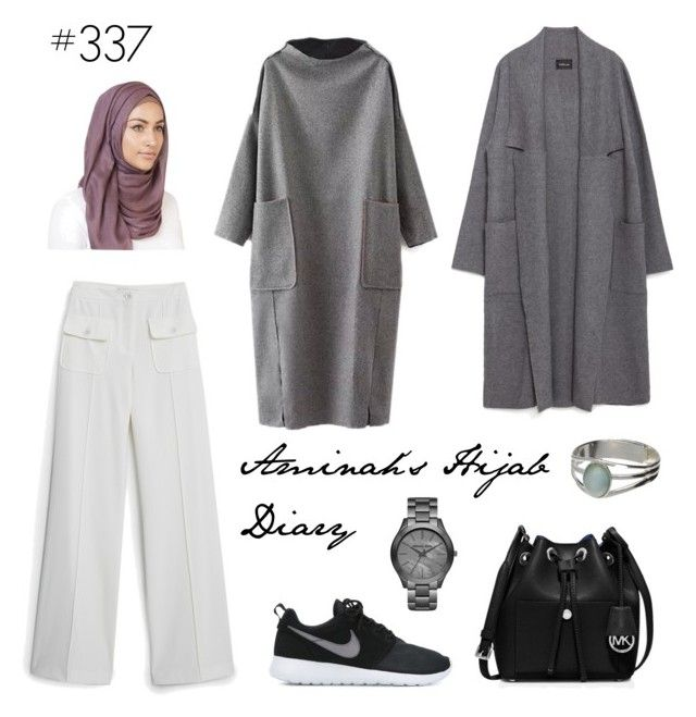 """""""#337 Nothing Less"""" by aminahs-hijab-diary ❤ liked on Polyvore featuring MANGO, Zara, NIKE and MICHAEL Michael Kors"""