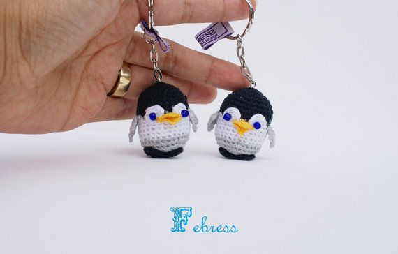 Amigurumi Penguin Cell Phone Strap : 1000+ images about Crochet keyrings- keychains on ...