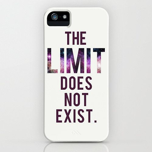 """The limit does not exist"" iPhone/Galaxy S4 case ($35)"