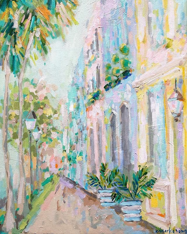 14b8b8fdd0f C Brooke Ring - Charleston painting - Rainbow Row artwork - Love this  contemporary impressionism!
