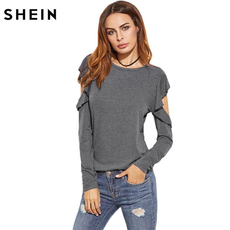 Solid O Neck Casual T-shirts Spring Autumn Women Ladies T shirt Heather Grey Ruffle Long Sleeve Open Shoulder T-shirt    45.33, 25.99  Tag a friend who would love this!     FREE Shipping Worldwide     Get it here ---> https://liveinstyleshop.com/shein-solid-o-neck-casual-t-shirts-spring-autumn-women-ladies-t-shirt-heather-grey-ruffle-long-sleeve-open-shoulder-t-shirt/    #shoppingonline #trends #style #instaseller #shop #freeshipping #happyshopping
