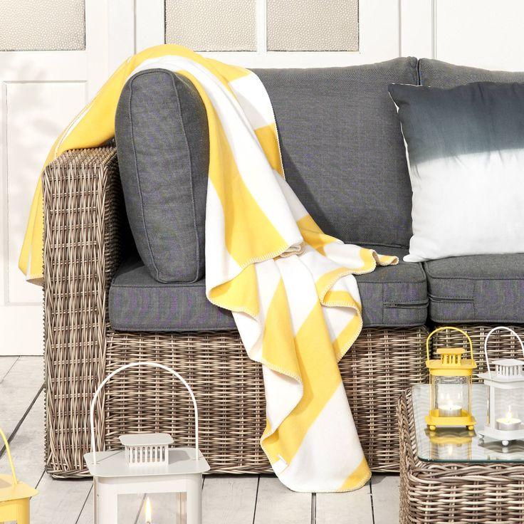 BLOKKER takaró sárga 130x170cm