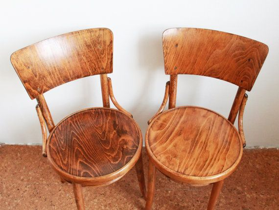 Pair of TON chairs. Renovated by Full Size Interior team.