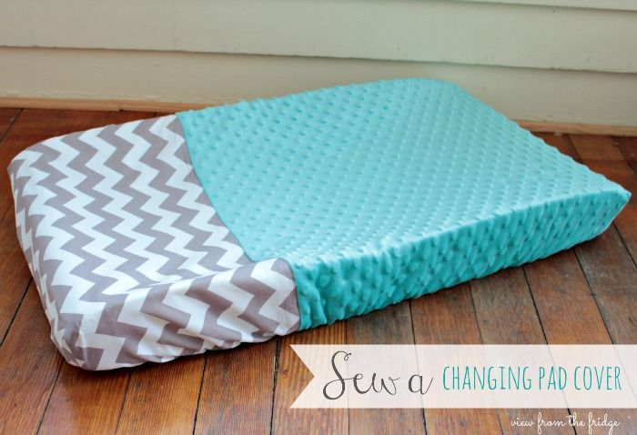 An easy tutorial to sew your own changing pad cover for your nursery! Easy to follow step by step on how to make this for your baby's nursery or a great gift!