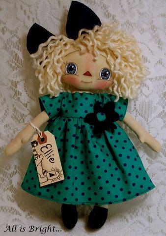 Raggedy Doll Ellie by Allisbright on Etsy, $36.00