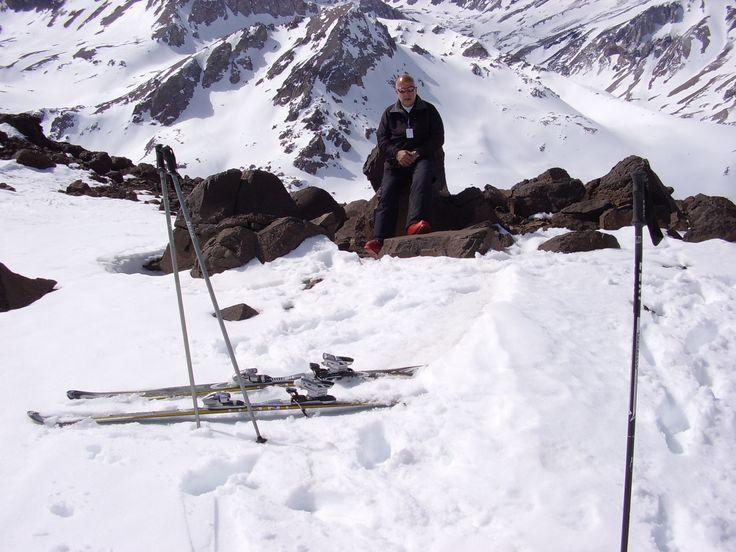 Descansando en Valle Nevado