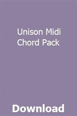 unison midi chord pack download
