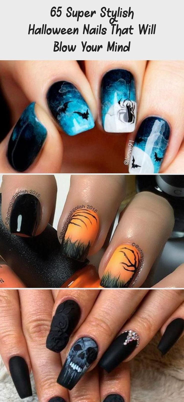 65 Tremendous Fashionable Halloween Nails That Will Blow ...