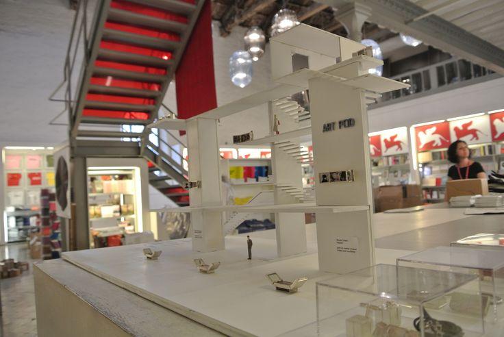 Art Pod Micro museum at Corderie Dell'Arsenale shop. Venice Biennale