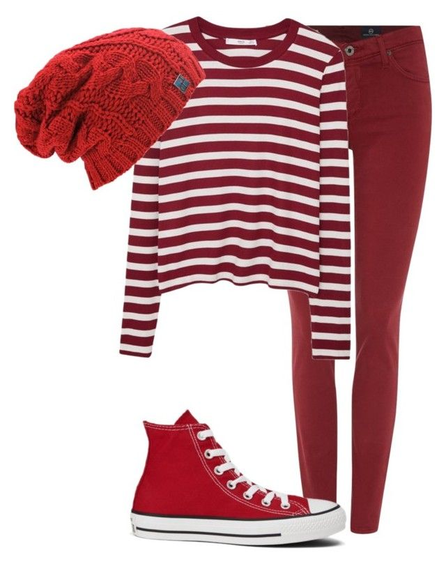 Untitled #124 by mon-holopainen on Polyvore featuring moda, MANGO, AG Adriano Goldschmied and Converse
