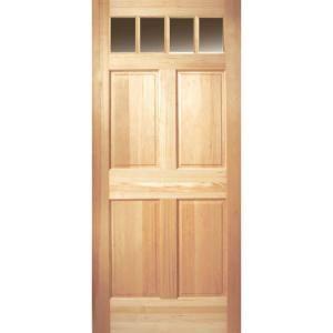 Masonite 4 Lite 4 Panel Unfinished Fir Slab Entry Door