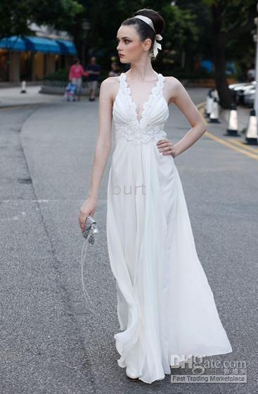 blanc Halter Deep V-Neck satin des robes de bal partie Hot Style 2010 US $114.45 - 132.25 / Piece, à DHgate.com