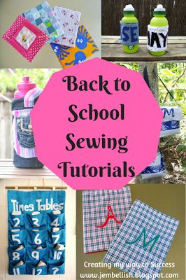 Creating my way to Success: Back to School Sewing Tutorials