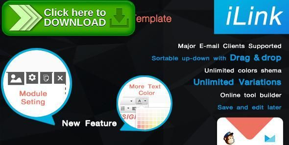 Free Nulled Ilink Responsive Email Template With Editor Download