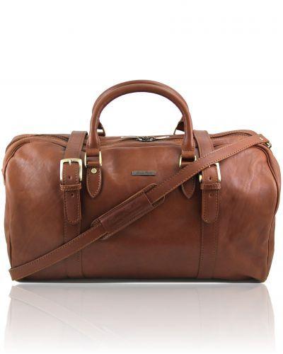 Sac de voyage en cuir Marron tuscany leather