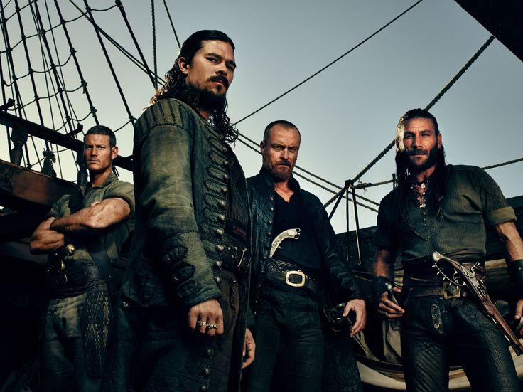 Tom Hopper (far left) as Billy Bones in Black Sails #TomHopper #BlackSails #BillyBones