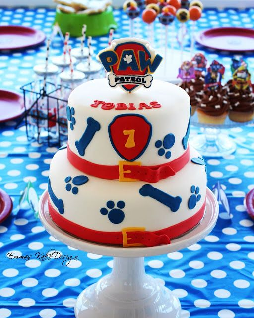 Emmas KakeDesign: Paw Patrol Birthday party! www.emmaskakedesign.blogspot.com