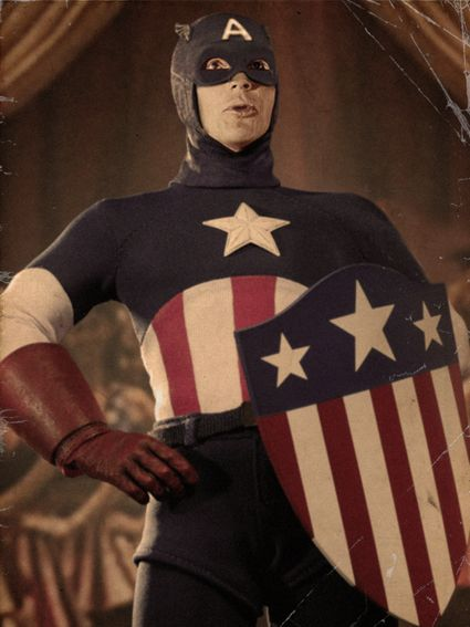 Just for fun... what if Adam West had played Captain America? Photoshopped by yours truly :-)