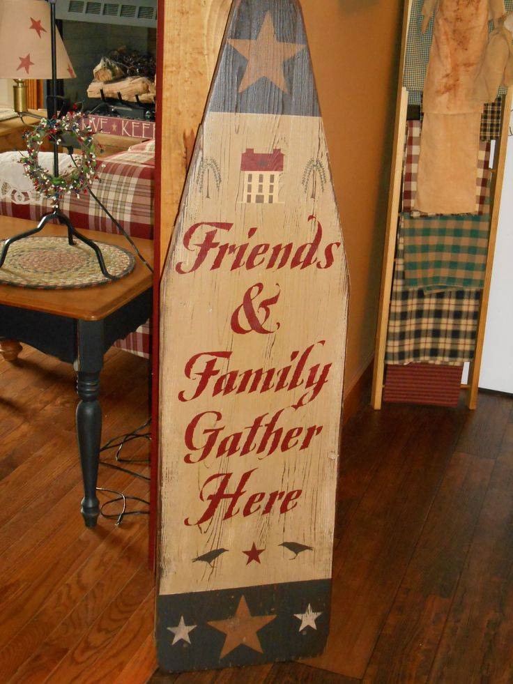 painted wood ironing board