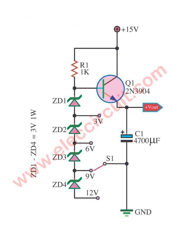 3 Multi Voltage Power Supply Circuit Eleccircuit Com Power Supply Circuit Electronics Projects For Beginners Circuit