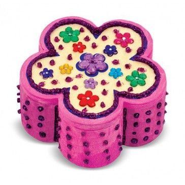 Melissa & Doug Decorate Your Own Wooden Flower Chest - Art & Magentic Play - Products