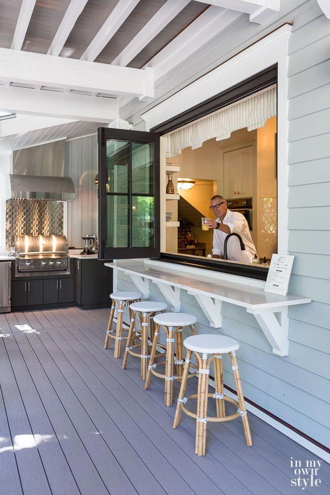 Entertaining ideas. Install a bifold kitchen window from Marvin