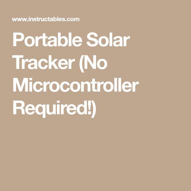 Portable Solar Tracker (No Microcontroller Required!)