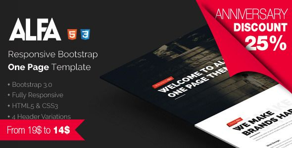 Alfa - Responsive Bootstrap One Page Template