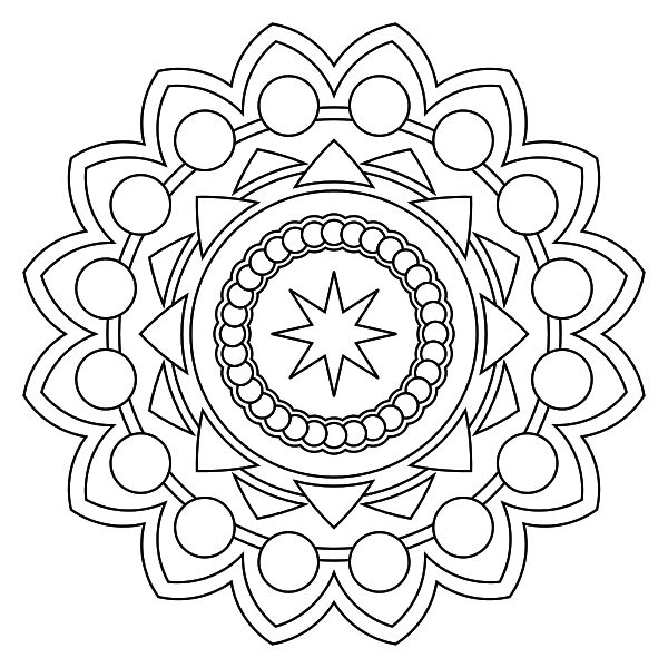 Mandala para imprimir 11 - La Guía de Mandalas