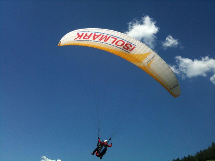 Triathlon mit Paragliding