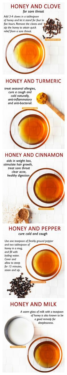 Natural remedies with honey
