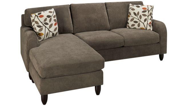 Max home sorrento 2 piece sectional jordan39s for Sectional sofas jordans