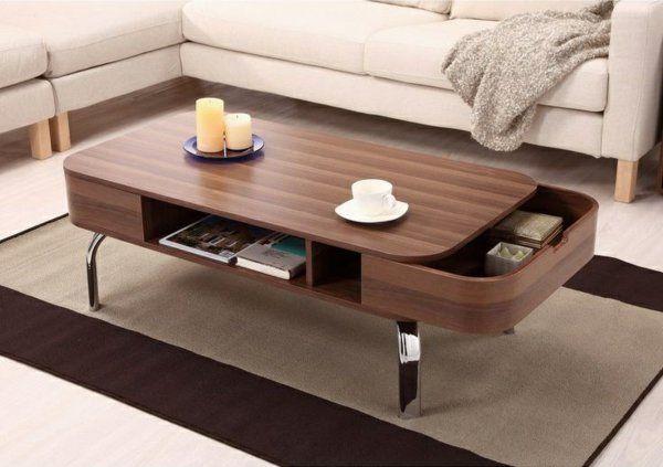 Elegant Couchtisch Massivholz   Modelle Von Wohnzimmertischen Aus Holz