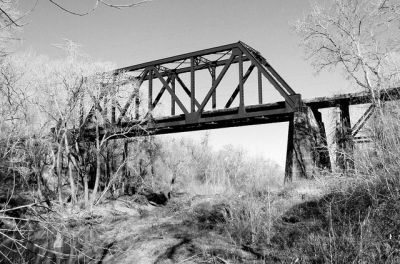Abandoned ATSF - San Bernard River Bridge Wharton County, Texas, and Fort Bend County, Texas