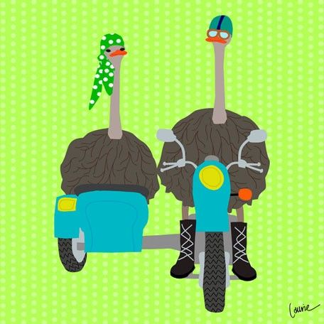 5.  Ostriches on the Go - Side Car  #Oopsydaisy  #ArtForKids