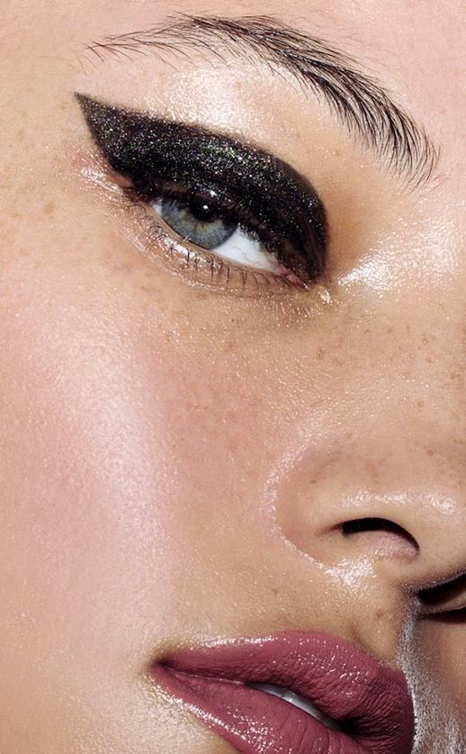 This Glossy Shimmering Cat-Eye Is Perfect For A Holiday Party https://www.facebook.com/FashionFieldsForever/