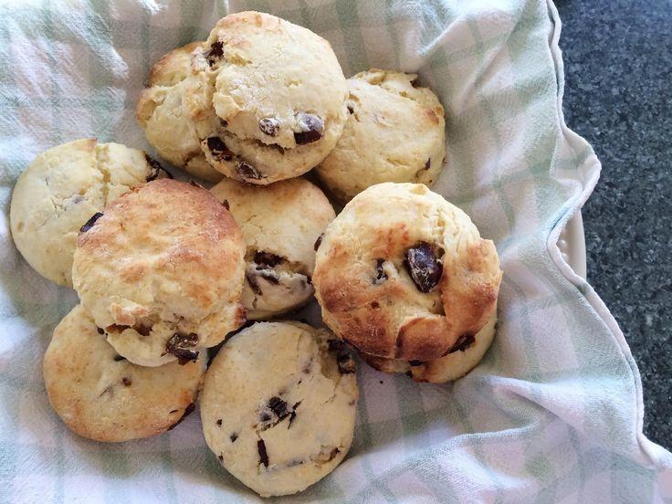 Super easy date scones with one secret ingredient.