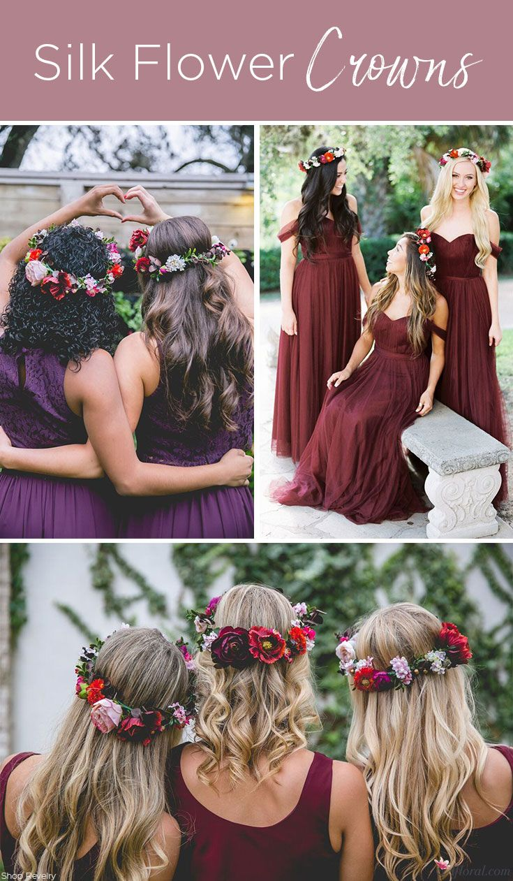 122 best floral crowns images on pinterest floral crowns flower create silk flowers crowns to add just another beautiful touch of your wedding colors to your izmirmasajfo Gallery