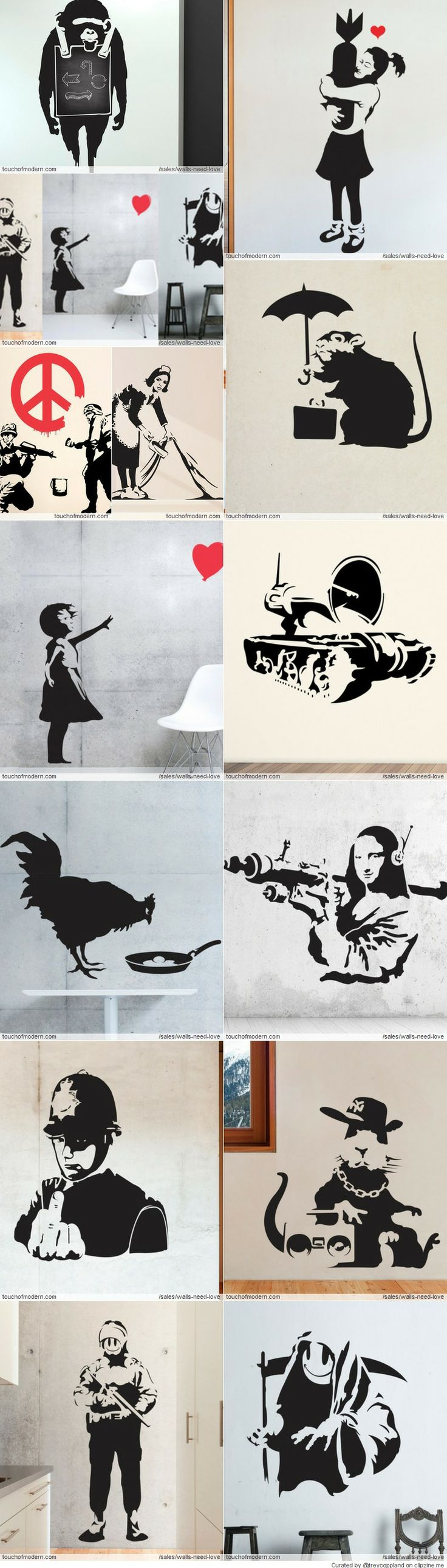 Walls Need Love, Banksy is perfect though....
