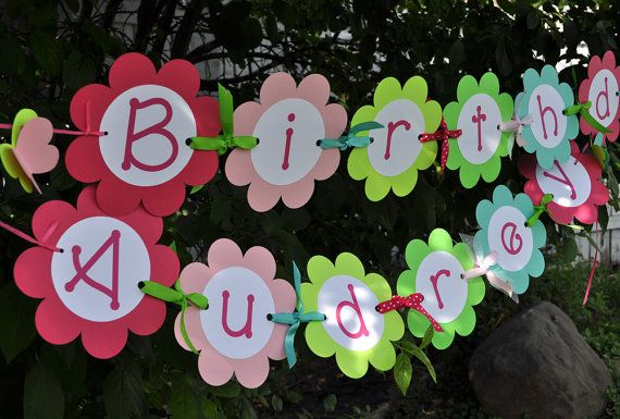 12 Birthday Cupcake Toppers  Flowers and by sosweetpartyshop, $10.00