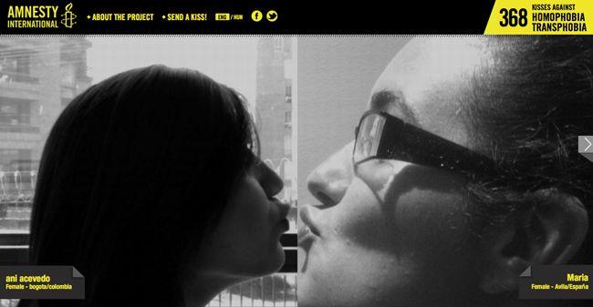 Un beso al día contra la homofobia