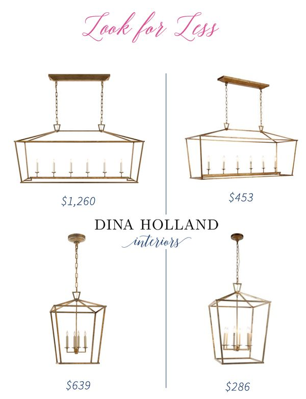 I've been known to track down a few good knock-offs but guys, this might just be my best find yet!  The Darlana lantern from Circa Lighting has been a designer favorite for a few years now.  You've no