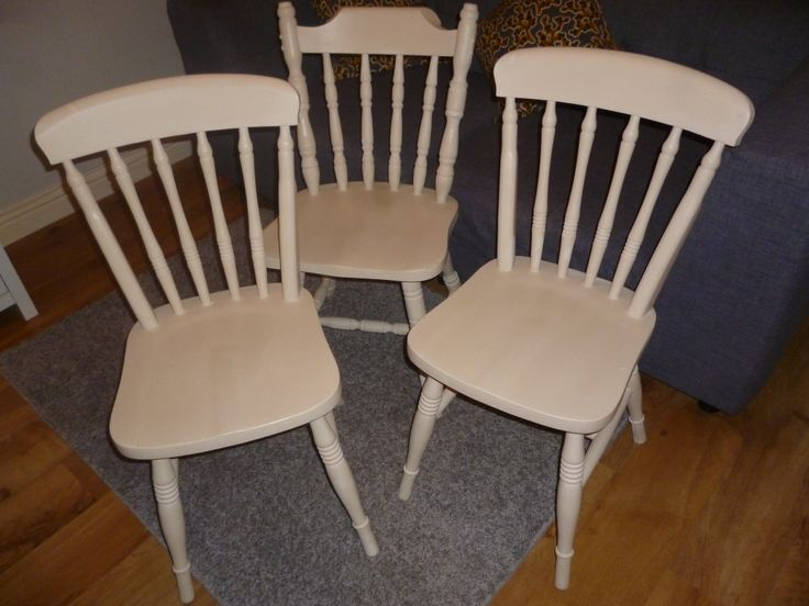 Heavy pine kitchen chairs upcycled with Annie Sloan old ochre and finished with clear wax