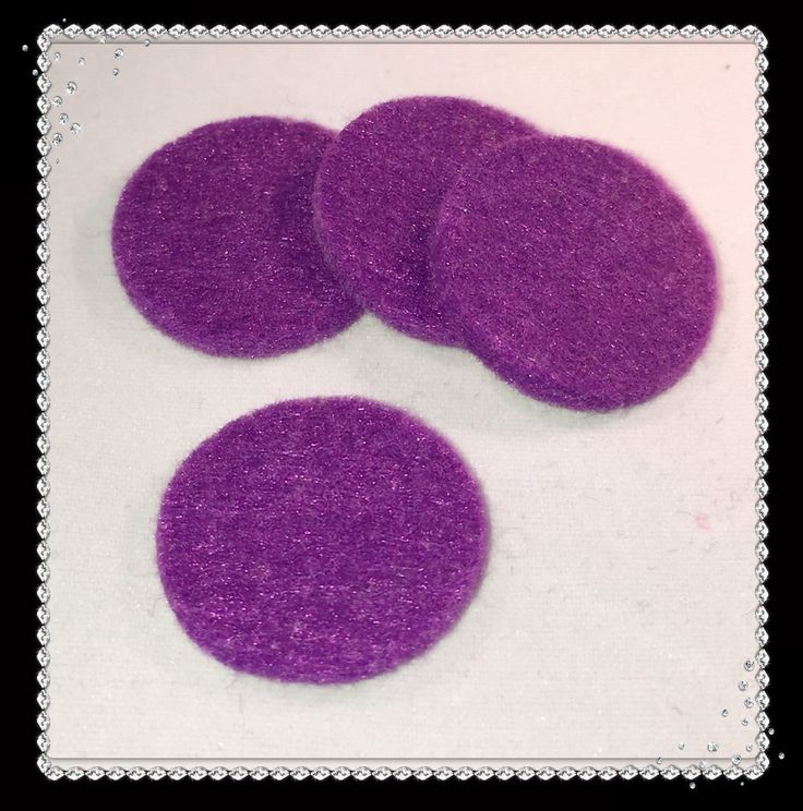 Round Reusable Essential Oil Locket Pads for 30mm and Larger in Purple