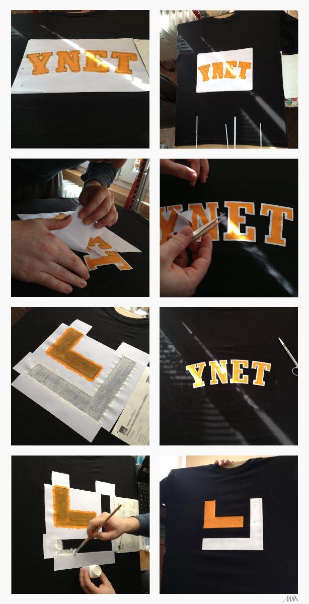 2x DIY tshirt Ynet