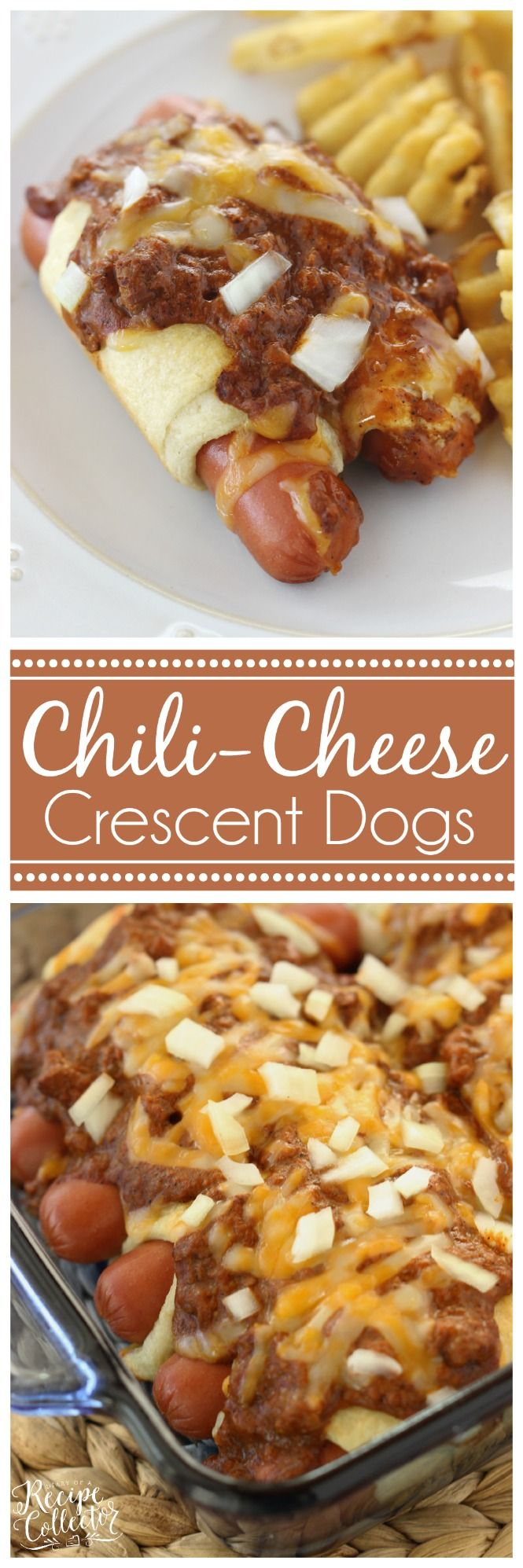 Chili Cheese Crescent Dogs ~ A super easy and very kid-friendly supper perfect for those busy weeknights!