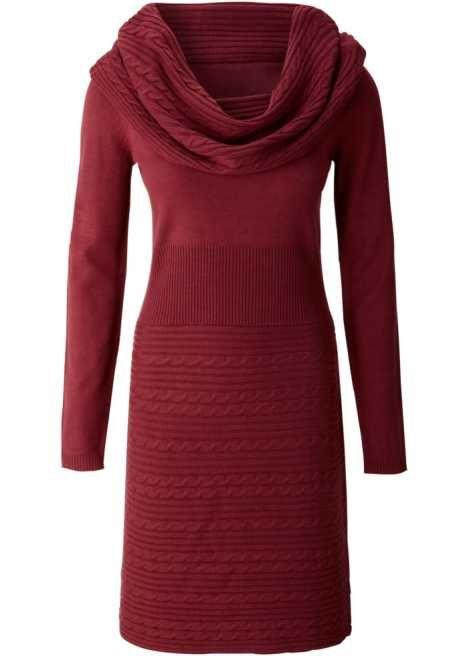Bekijk nu:Vrouwelijk & elegant: mix van breipatronen. Prachtige, gebreide jurk met watervalhals. Een bijzondere blikvanger: het opvallende breipatroon op de kraag en op de rok. Geribd op de mouwen en in de taille, zit perfect! Lengte ca.96cm. 100%polyacryl, lichtgrijs gemêleerd: 80%acryl, 20%polyester.
