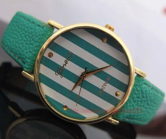 fashion watches - stripes watches, men and women watch, students watch, unique watches on Etsy, $5.99 http://www.stylewarez.com