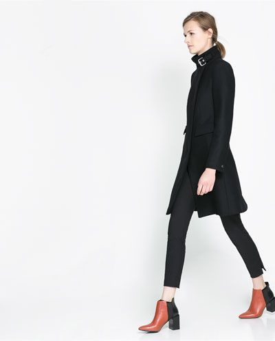 Image 2 of ZIP-UP COAT from Zara. Adore those boots too!